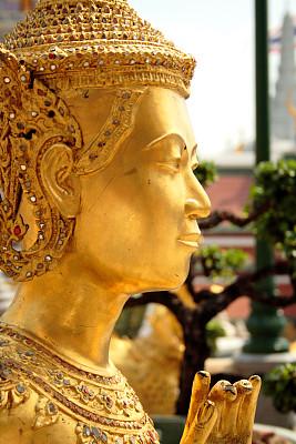 金佛寺,垂直画幅,灵性,珠宝,夏天,户外,泰国,佛,彩色图片