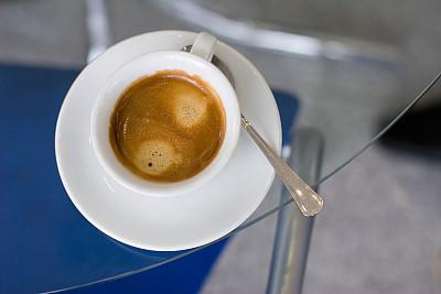 咖啡,褐色,芳香的,水平画幅,无人,茶碟,玻璃,早晨,饮料,特写