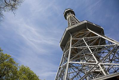 布拉格,塔,天文台,天空,台阶,旅游目的地,水平画幅,埃菲尔铁塔,高大的,工头