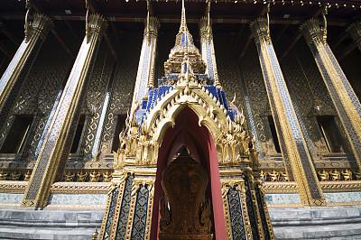 泰国人,建筑外部,纪念碑,天空,灵性,水平画幅,无人,异国情调,泰国,佛塔