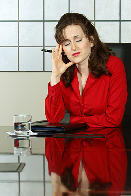 铸锭,井,票务中心,垂直画幅,办公室,头痛,情绪压力,人群,图像,经理