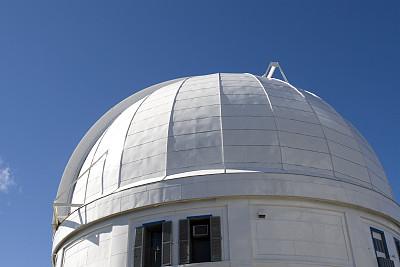 天文台,便携式望远镜,天文望远镜,窗户,天空,太空,水平画幅,建筑,无人,蓝色