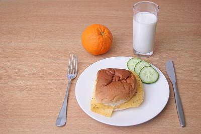 白色,小圆面包,盘子,奶制品,褐色,水平画幅,无人,餐刀,膳食,奶酪