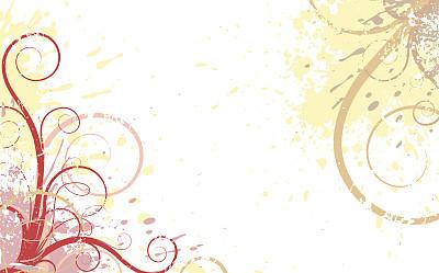 背景,边框,水平画幅,形状,无人,绘画插图,古老的,夏天,草