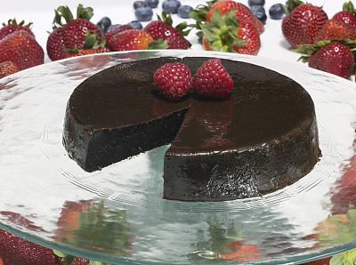 巧克力蛋糕,餐盘,野草莓,饮食,水平画幅,水果,无人,不健康食物,蛋糕,面包店