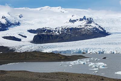 杰古沙龙冰川湖,轻轻浮起,水,天空,气候,水平画幅,雪,无人,块状,大西洋