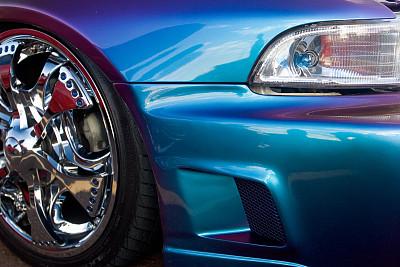 蓝色,热,汽车展,保险杠,正面视角,车轮,水平画幅,无人,陆用车,户外