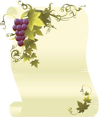 葡萄,卷,九月,华丽的,十月,法定假日,边框,食品,巴洛克风格,古典式
