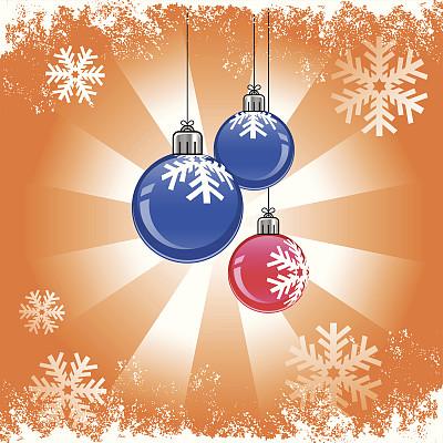 晚会,彩色图片,无人,绘画插图,雪花,矢量,圣诞装饰