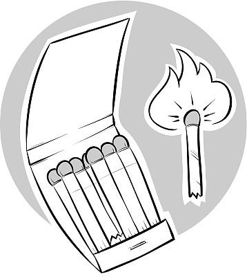 翻盖火柴盒,火柴棍,垂直画幅,无人,绘画插图,纸板,光亮,卡通,易燃品,斯帕克斯