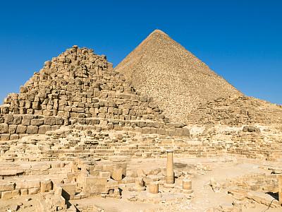 吉萨金字塔群,吉萨,开罗,法老,水平画幅,埃及,早晨,夏天,过去,rameses ii