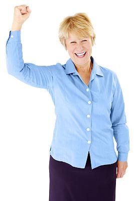 女商人,幸福,白色背景,中老年人,垂直画幅,套装,白人,仅成年人,彩色图片,成年的