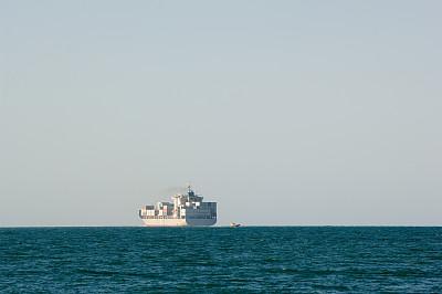 货船,拖轮,水,水平画幅,工业船,货运,夏天,交通方式,货物集装箱,容器