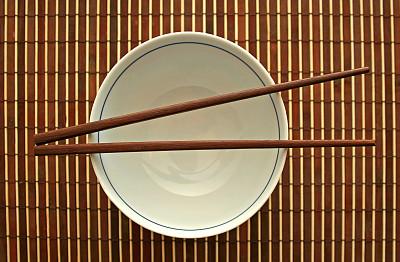 棍,碗,餐具,留白,休闲活动,水平画幅,无人,现代,白色,空的