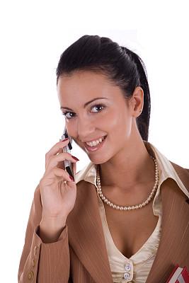 青年人,手机,女商人,垂直画幅,女人,幸福,电话机,美人,拿着
