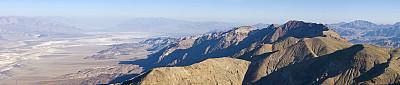 风景,阿马戈萨山脉,恶水盆地,盐滩,天空,美国西部,高视角,美洲,山脊,彩色图片