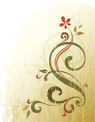 矢量,花纹,背景,花形图案装土神盾饰,留白,褐色,无人,绘画插图,古典式,夏天