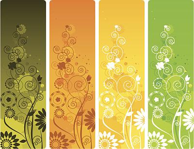 式样,花纹,垂直画幅,留白,无人,绘画插图,标签,夏天,草,仅一朵花