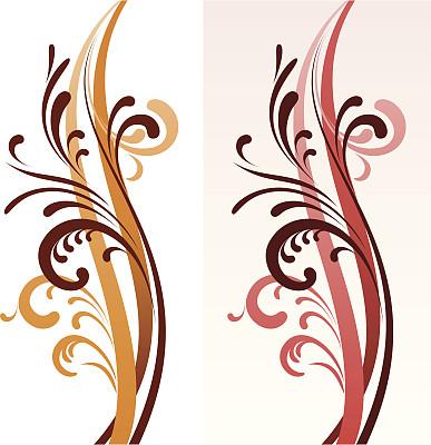 花纹,形状,秋天,无人,绘画插图,抽象,装饰物,线条,华丽的