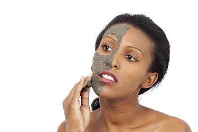 泥,矿物质,面罩,泥疗法,埃塞俄比亚人,彩妆,spa美容,健康,化妆用品,不看镜头