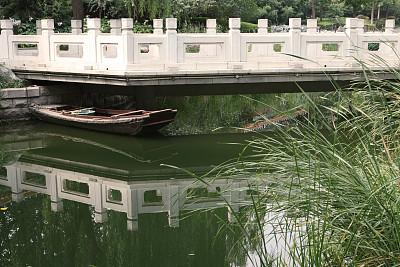 宁静,北京,船,故宫,水,公园,草原,水平画幅,无人,户外