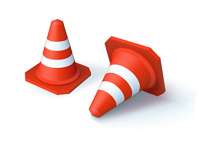 路锥,数字2,边框,形状,绘画插图,格子,交通,禁止的,塑胶,安全