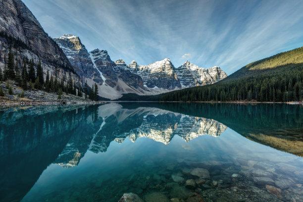 冰碛倒影湖图片
