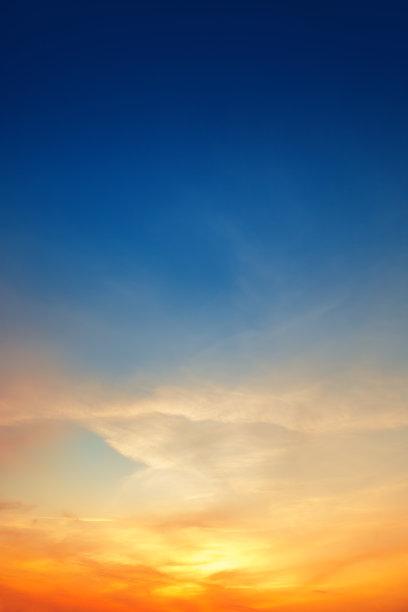 天空,背景,橙色,云景,云,美,垂直画幅,夜晚,夏天,气候与心情