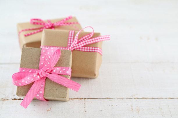 礼物,牛皮纸,贺卡,留白,美国,水平画幅,木制,无人,白色背景