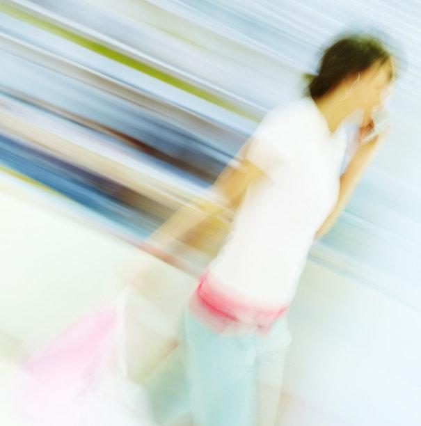 购物袋,手机,运动模糊,女性,图像,垂直画幅,女人,人,女孩,彩色图片