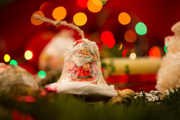 宫灯百合,选择对焦,芳香的,水平画幅,圣诞老人,圣诞礼物,特写,圣诞装饰物,十二月