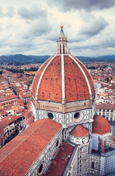 佛罗伦萨,垂直画幅,天空,当地著名景点,夏天,图像,都市风景,国际著名景点