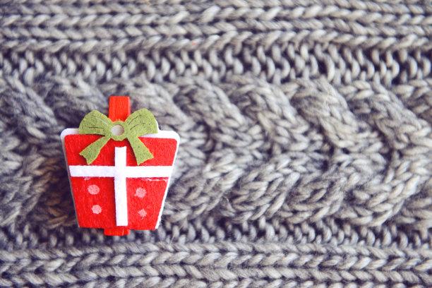 圣诞装饰,式样,水平画幅,无人,新年,符号,圣诞礼物,特写,礼物