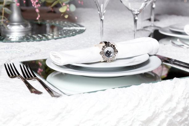 桌子,婚礼,留白,餐厅负责人,冰晶,花束,彩色图片,婚姻,餐巾,晚餐