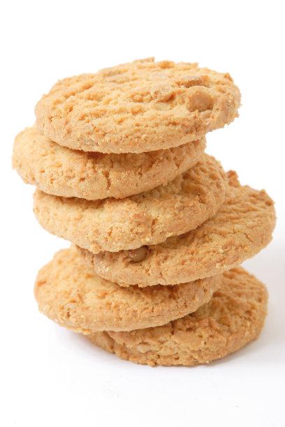 巧克力脆饼,精制土豆,垂直画幅,饼干,无人,不健康食物,白色背景,背景分离,小吃,甜点心
