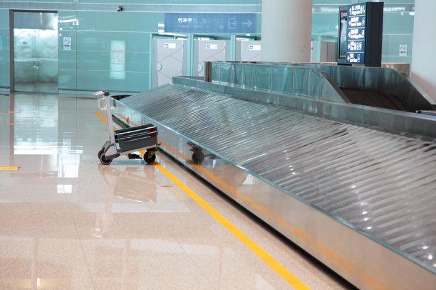行李提取厅,腰带,空的,无人迹,平衡折角灯,手摇车,旋转类游乐,迷路,行李,行李车