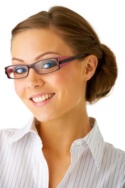 青年人,女商人,垂直画幅,正面视角,图像,经理,仅成年人,眼镜,现代