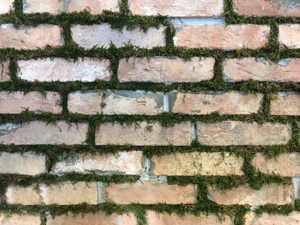 纹理效果,砖,背景,留白,石墙,外立面,水平画幅,无人,砖墙,古典式