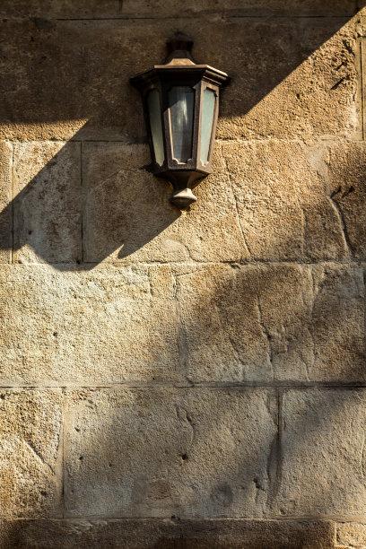 灯笼,墙,黄石公园,垂直画幅,古老的,古典式,灯,乡村风格,金属,过去