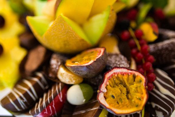 水果,餐盘,特写,事件,饮食产业,餐具,沙漠,份量,开胃酱,饮食