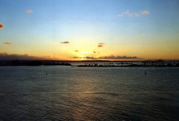 波多黎各,圣胡安湾,天空,水平画幅,云,无人,当地著名景点,户外,棕榈树,热带气候