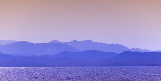 爱琴海,穆拉省,山,博都茹姆,地平线,土耳其,月桂树,水平画幅,地形,无人