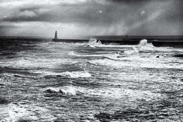 码头,泰恩茅斯,水,泰因威尔,风,南希尔兹,水平画幅,无人,英格兰,海岸地形