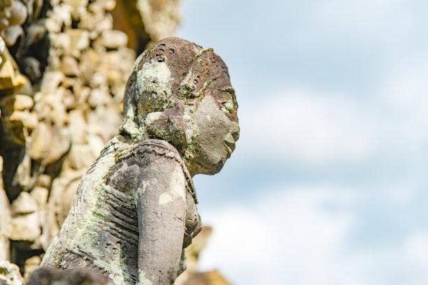 雕像,警卫人员,印度神像,女神,部落艺术,魔鬼,巴厘岛,灵性,古董,艺术