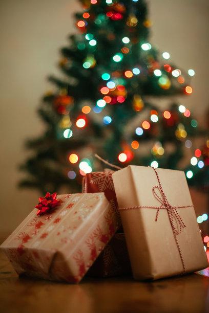 圣诞树,礼物,旅游目的地,木制,公寓,垂直画幅,选择对焦,留白,无人