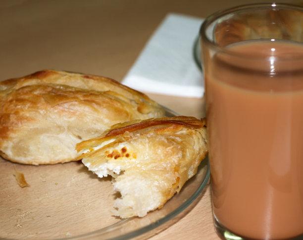 早餐,马耳他,奶茶,桌子,水平画幅,无人,欧洲,玻璃杯,烘焙糕点,奶酥