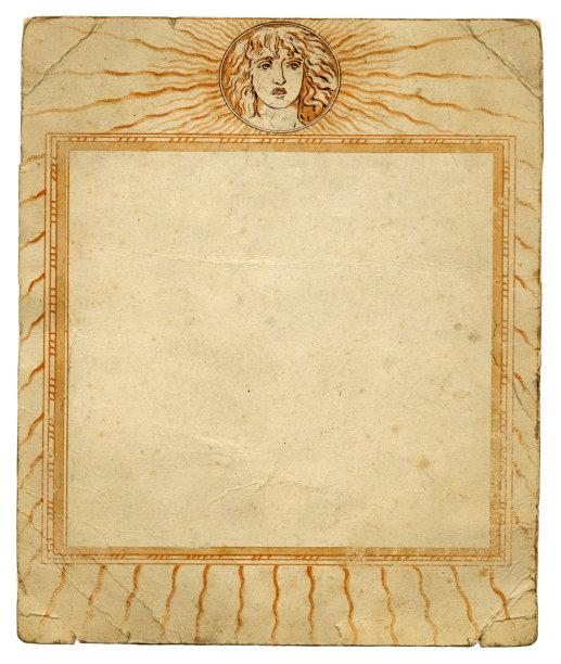 相框,华丽的,伊卡洛斯,国境线,新古典派,垂直画幅,贺卡,留白,古董,边框