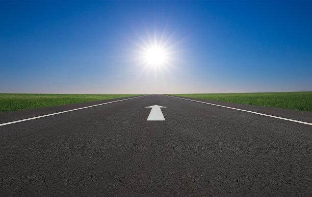 路,天空,未来,水平画幅,云,导游,无人,夏天,户外,草