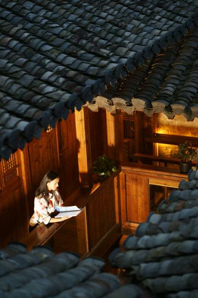 传统,时尚,中国,,建筑体,安徽省,皮肤,瓷砖,垂直画幅,美