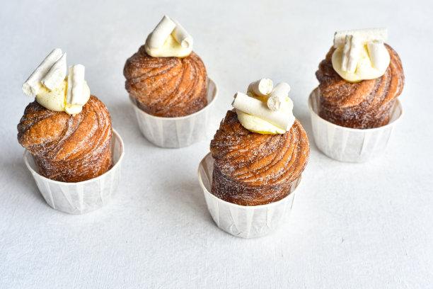 欧式早餐,奶酥,小甜面包,外卖食品,水平画幅,无人,奶油,牛角面包,烘焙糕点,法式食品